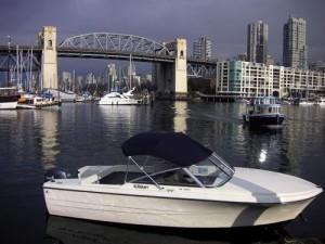 17ft Granville Island Boat Rentals on granville island