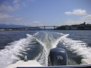 Lovely sunny day on the water at second narrows