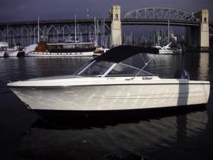 17ft hourston glasscraft rental boat Granville Island