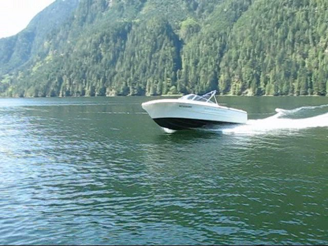Out on the water in a 17ft rental boat Indian arm