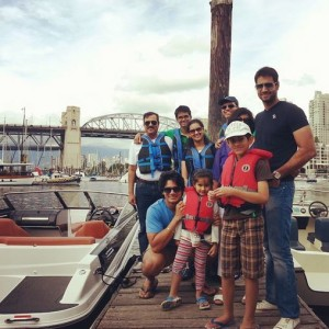 Family reunion on a rental boat