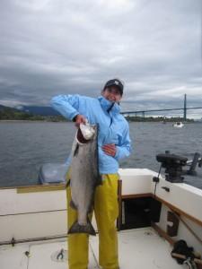 Fishing at the Lions Gate Bridge