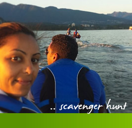 Scavenger Hunt Boat Rental Vancouver