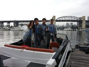 The rain doesnt stop the renting a boat