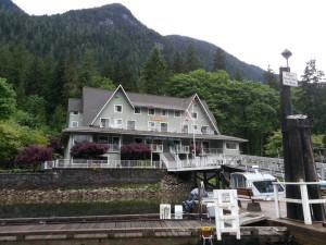 Rental boat at Wigwam Inn Indian Arm
