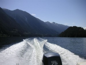 Magnificent Mountain Views from our boat in indian arm