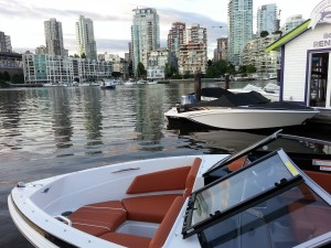 18ft boat at our location in the heart of downtown Vancouver