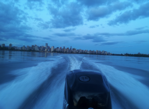 Leaving the city by boat rental in english bay