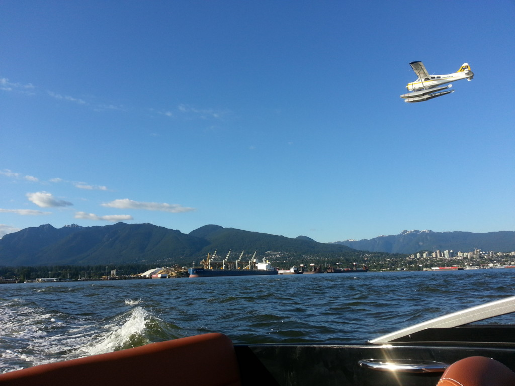 Float plane up close from our boat rental