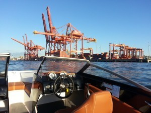 Vancouver Port by boat rental
