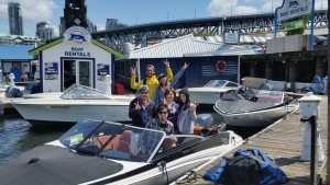 catching up at granville island boat rentals
