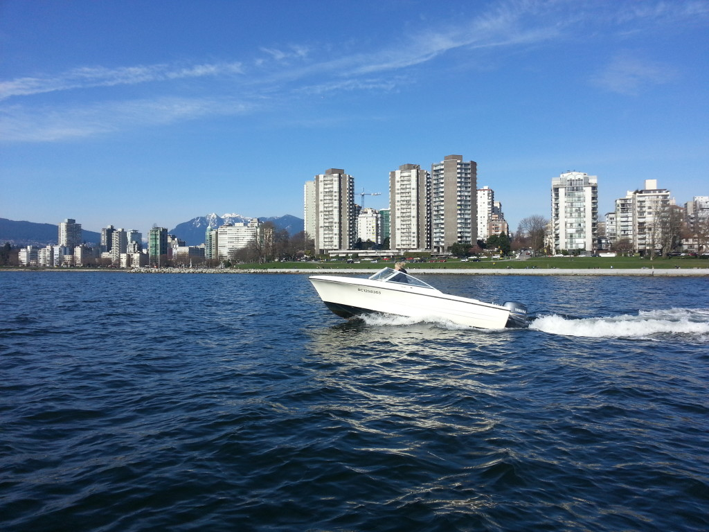 17ft rental boat at English Bay